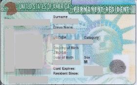 アメリカのグリーンカード
