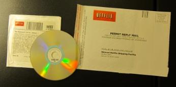 Netflix DVDの入ったDVD