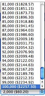 ユナイテッド航空 マイルの価格 40%割引時