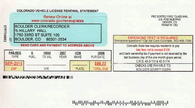 アメリカの自動車登録税