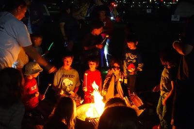 コロラド州 エリーのキャンプファイア