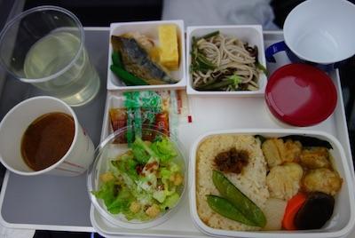 JAL成田・サンディエゴ線の機内食