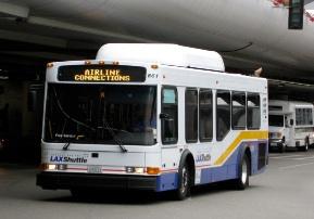 ロサンゼル空港 シャトルバス