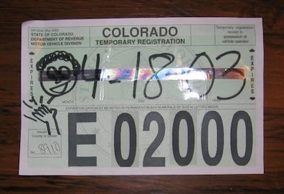 アメリカの自動車 仮ライセンスプレート ナンバープレート