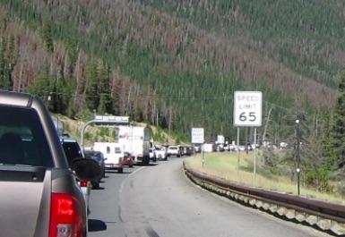 コロラド州 I-70 大渋滞 Labor Day