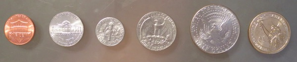 アメリカのコイン 裏