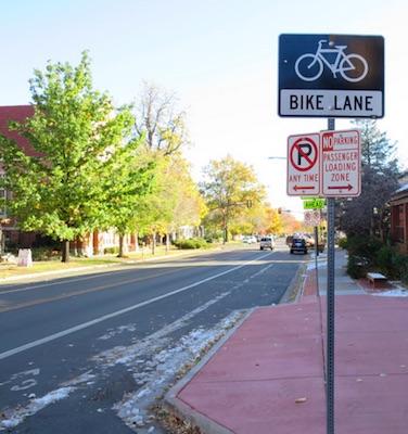 アメリカの交通 Bike Lane 自転車専用道路