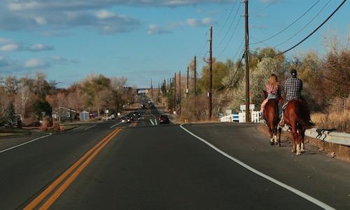公道で Horse Riding を見かけることもあります