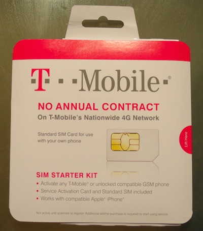 SIM Catd アクティベーションキット T-mobile