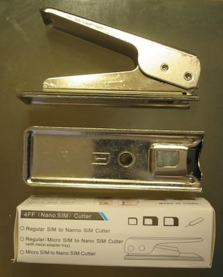 SIMカッター サイズ調整