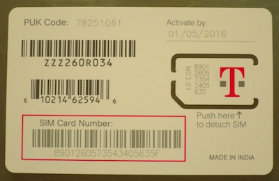 SIM Catd アクティベーションキット T-mobile カード
