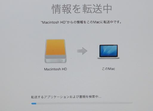 Mac OS SSD ファイルのコピー