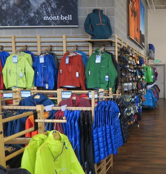 アメリカの服のサイズ モンベル ボルダー コロラド店