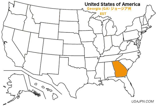 アメリカ合衆国 ジョージア州の地図