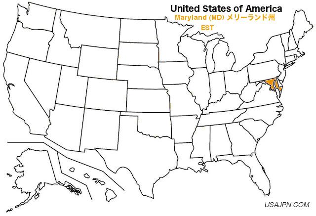 アメリカ合衆国 メリーランド州の地図