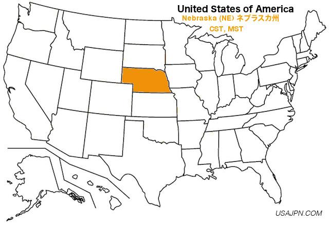 アメリカ合衆国 ネブラスカ州の地図