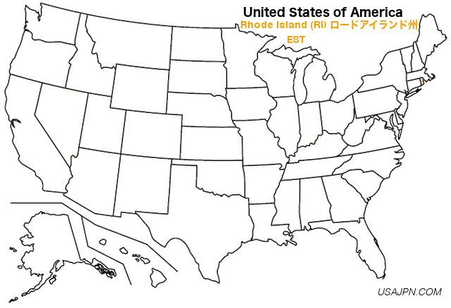アメリカ合衆国 ロードアイランド州の地図