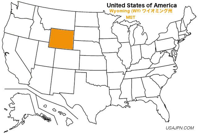 アメリカ合衆国 ワイオミング州の地図