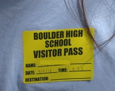 Visitor Pass, AP Japanese Boulder High, 2018