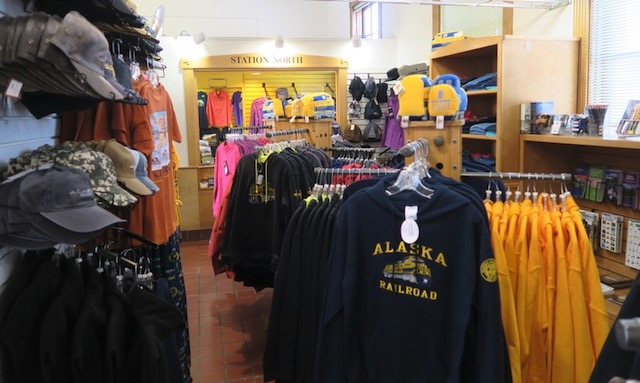 アラスカ鉄道 アンカレッジ ギフトショプ
