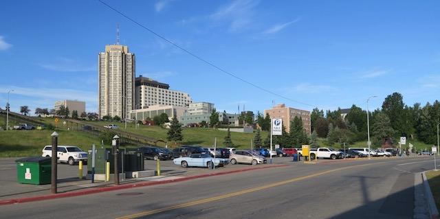 アラスカ鉄道 アンカレッジ 駐車場