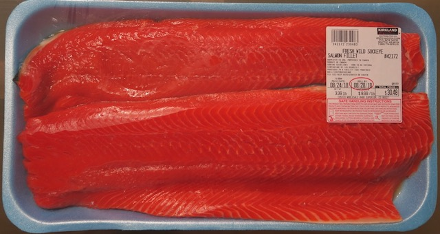 アメリカのスーパーの魚 サーモン