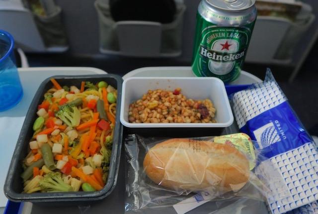 ユナイテッド航空の国内線エコノミークラス
