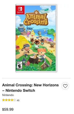 Animal Crossing New Horions -Target