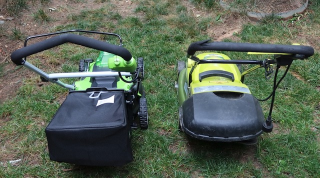 アメリカの芝刈り機 GreenWorks 40v 16inch Lawn Mower 4Ah Battery